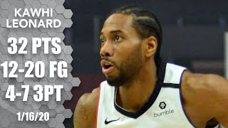 Kawhi Leonard tallies 30+ points in 4th straight game for Clippers | 2019-20 NBA Highlights