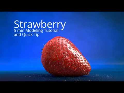 5 min Strawberry Modeling c4d Tutorial + Quick Tip HD