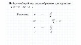 14.1 Найдите общий вид первообразных для функции