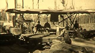 Mobile Sleeper Mill in NSW native forests - 1940-50s