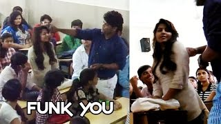 Repeat youtube video Girl Sexually Abused in Classroom by Professor! - Funk You (Prank in India)