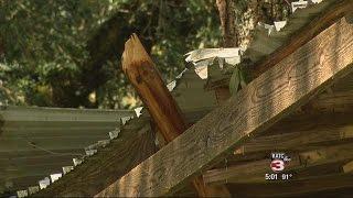 Unexpected storm damages Butte La Rose home