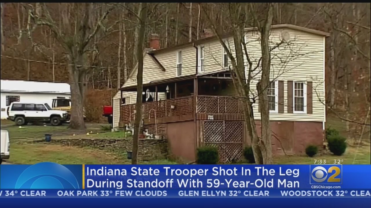 Indiana State Trooper Shot During Standoff