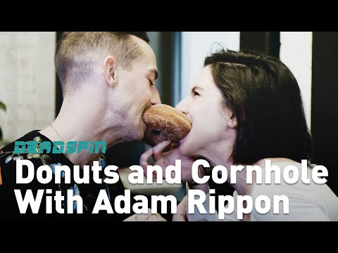 Donuts and Cornhole With Adam Rippon