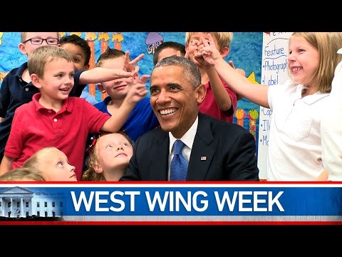 "Thumbnail: West Wing Week 09/19/14 or, ""You guys aren't normally this quiet are you?"""