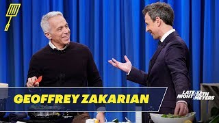 Geoffrey Zakarian Cooks a Steamed Bass with Zucchini and Spinach