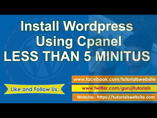 wordpress tutorial in hindi step by step- Part-3: install wordpress on cpanel