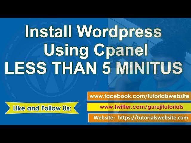 wordpress tutorial in hindi step by step- Part-3: install wordpress on cpanel