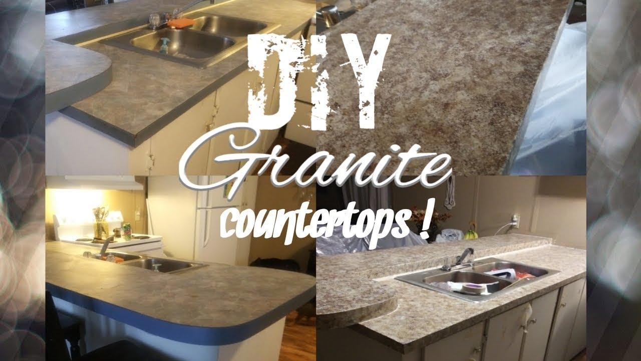 Diy Granite Countertops Painted