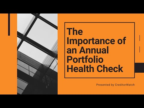 The Importance of an Annual Portfolio Health Check