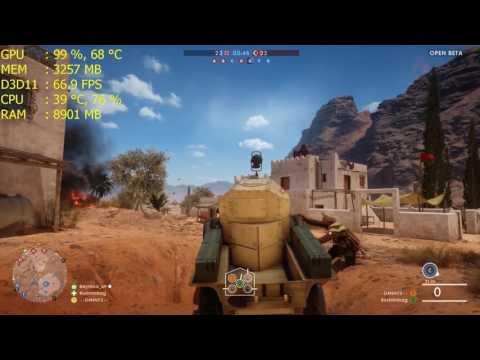 intel core i5 6500+gtx 1060 Battlefield 1 beta