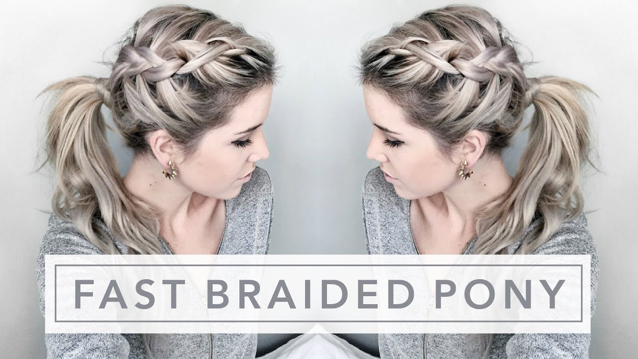 quick tutorial | easy braided ponytail
