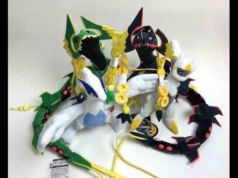 Review shiny mega rayquaza plush toy hoopa japan pokemon - Lego pokemon rayquaza ...