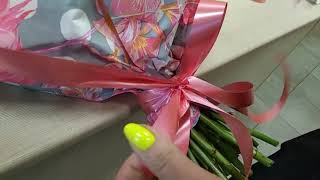 как сделать бант из ленты для букета цветов