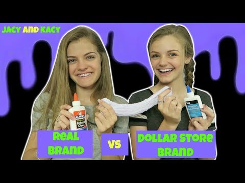Thumbnail: Real Brand vs Dollar Store Brand ~ Slime Challenge ~ Jacy and Kacy