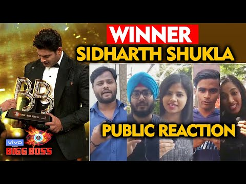 Bigg Boss 13 WINNER Sidharth Shukla   PUBLIC REACTION   BB 13