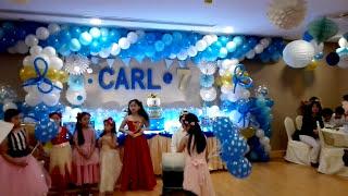 CArls 7th Birthday 7 Balloons Girls