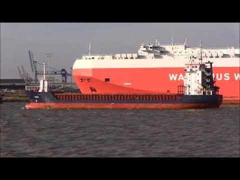 KAJA General Cargo Ship, 24/02/2018. Thames Shipping by R.A.S.