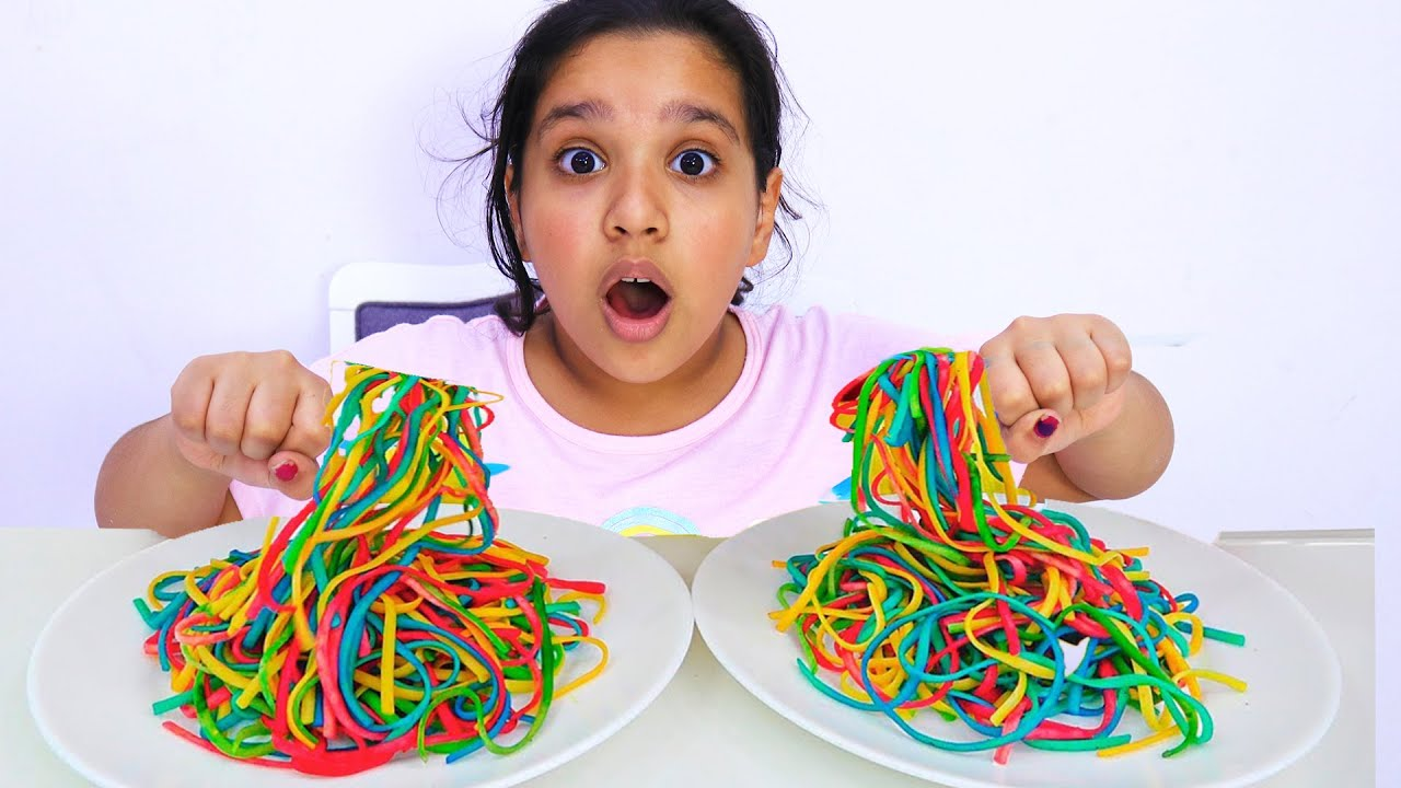 shafa colored noodle | Funny stories for kids