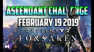 Ascendant Challenge Solo Guide February 19 2019 | Destiny 2 Forsaken | Taken Eggs & Lore Locations