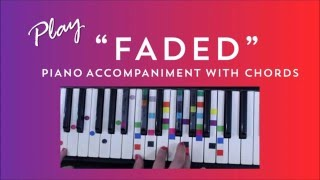Download How to Play Sing Faded - Alan Walker | Easy Piano Chord Lesson | IVOREEZ Mp3