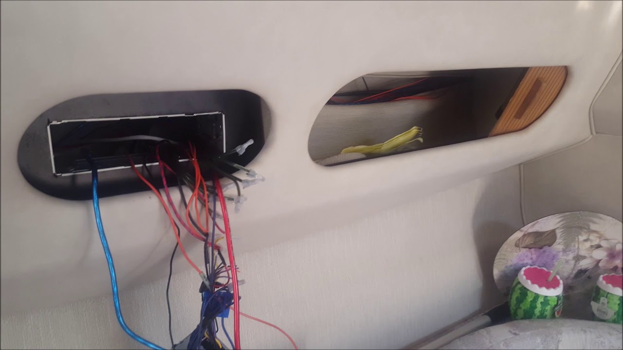 how to eliminate audio stereo engine noise when installing a system on a  boat yacht kicker amp
