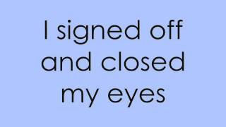 Sky Diver On-Screen Lyrics - Owl City (Maybe I