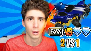FAVIJ SOLO vs 2 DIAMANTI su ROCKET LEAGUE! (1 vs 2)