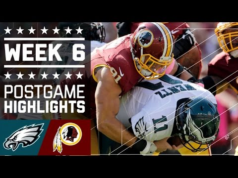 Eagles vs. Redskins (Week 6) | Game Highlights | NFL