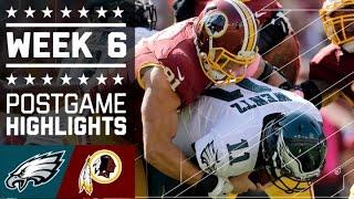 Eagles vs. Redskins | NFL Week 6 Game Highlights