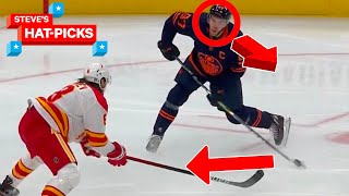 NHL Plays Of The Week: He's Not Even LOOKING!!! | Steve's Hat-Picks