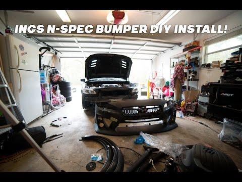 2015 Subaru WRX INGS N Spec Aftermarket Front Bumper DIY Install