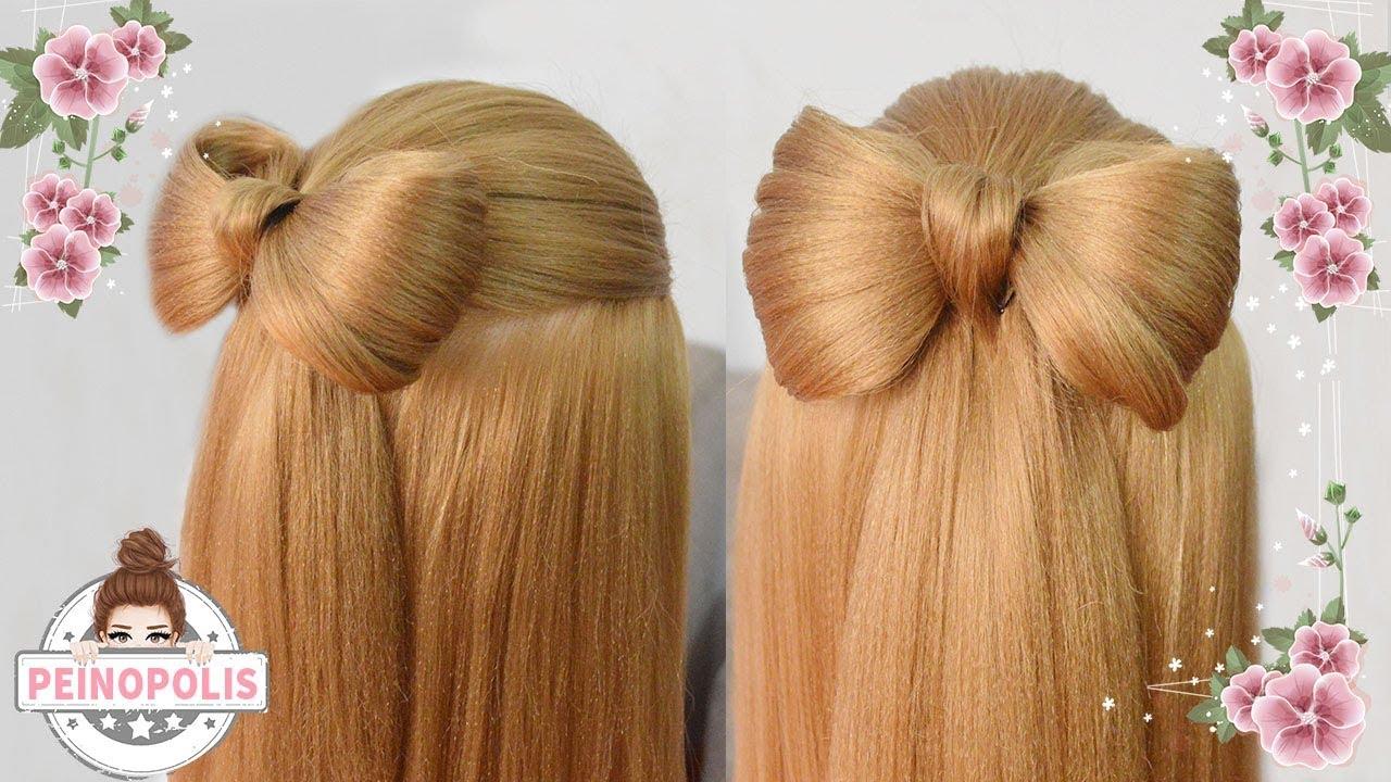 Peinados con lazo trenzas para ni as con cabello largo - Peinados nina pelo largo ...