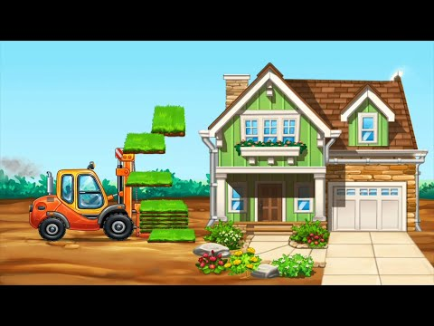 How To Build A House By Trucks 4 | Truck Game For Kids | Gameplay Walkthrough | BuddyFun