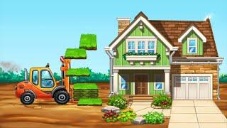 How to build a house by trucks 4 | Truck game for kids | Gameplay walkthrough | BuddyFun screenshot 5