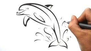 tattoo dolphin drawings designs easy tattoos draw tribal drawing dolphins pencil google tatoos sea paintingvalley