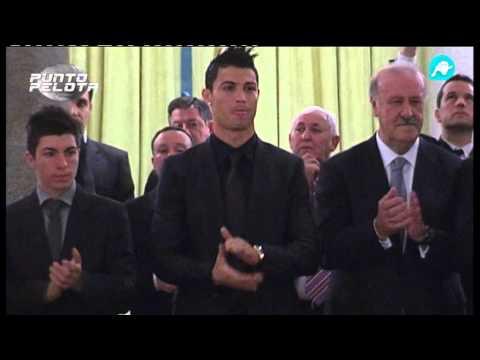 El cariño entre Di Stéfano y Cristiano Ronaldo