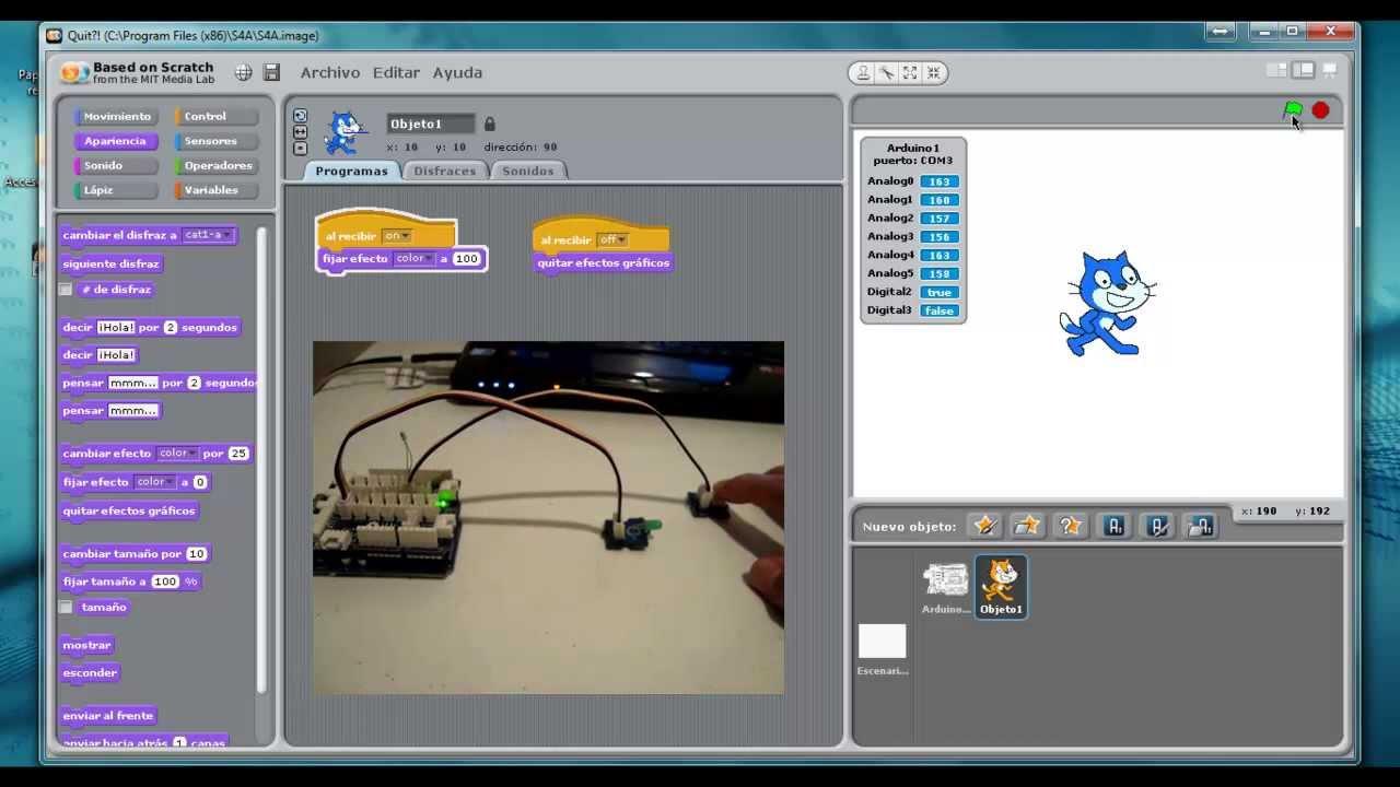 Practica scratch para arduino botón y led grove youtube