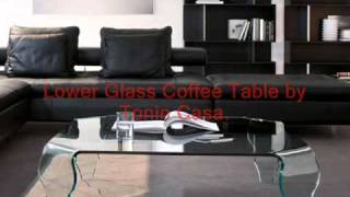 Glass And Wooden Coffee Table And Tables.
