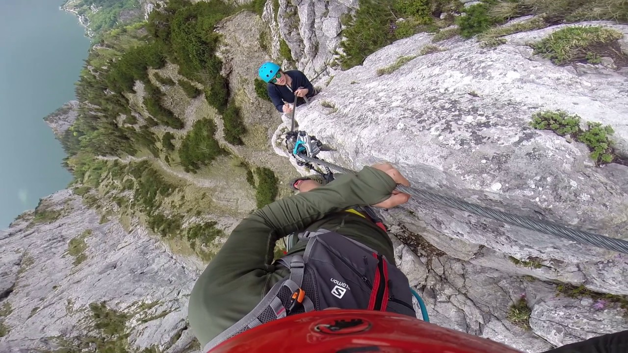 Klettersteig Traunstein : Traunstein klettersteig 2017 youtube