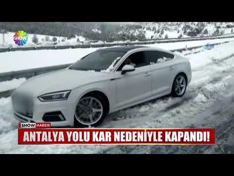 Antalya yolu kar nedeniyle kapandı!