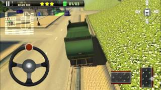 3D Garbage Truck Parking Game - Android Gameplay [Full HD]