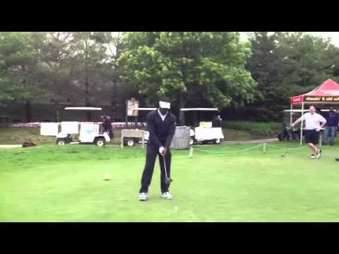 Michael Vick tees off at Ron Jaworski Celebrity Golf Classic