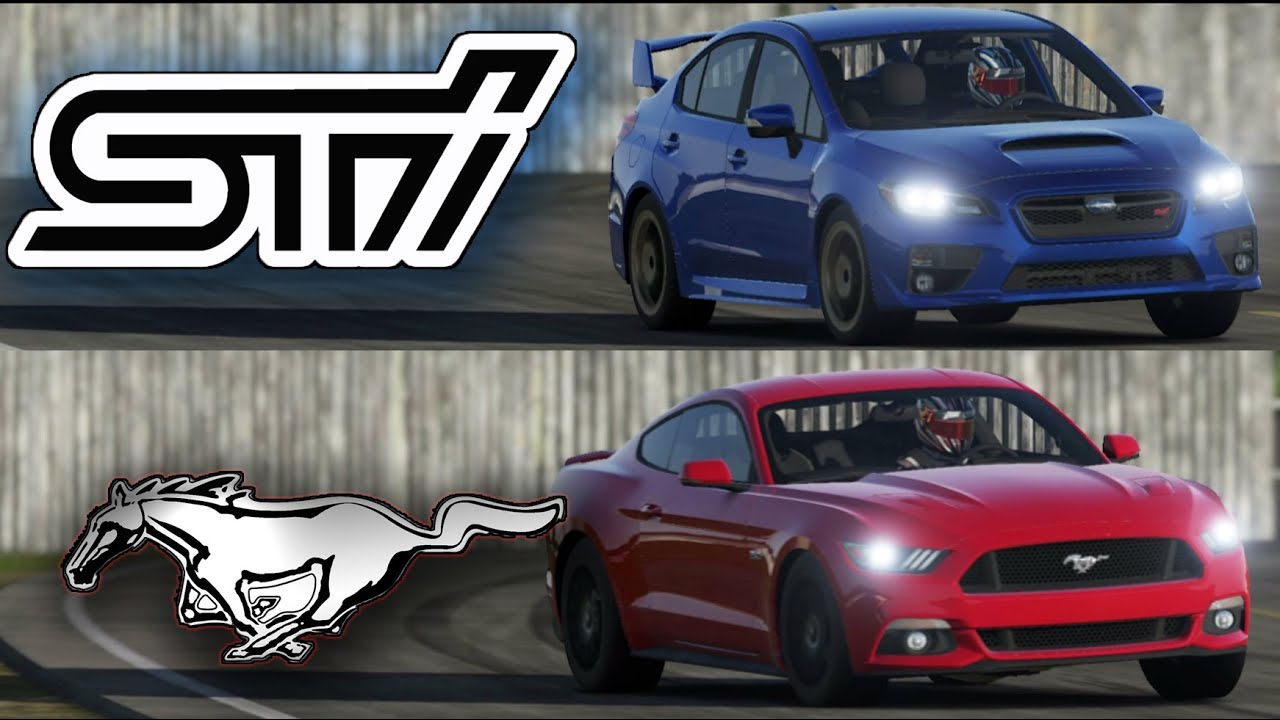2015 Subaru Wrx Sti Vs 2015 Mustang Gt Top Gear Track