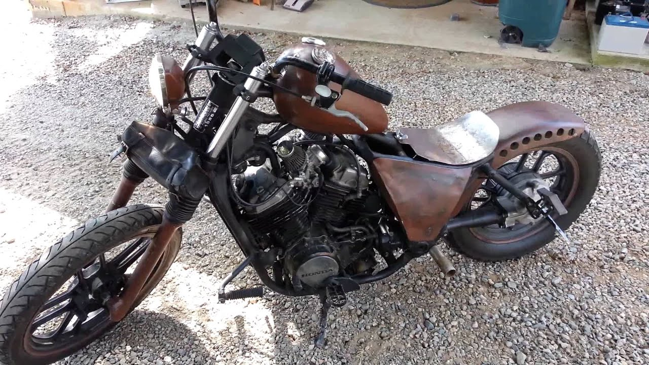 85 Honda Shadow Rat Bike Youtube