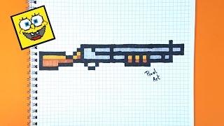 Cómo dibujar una escopeta de fortnite paso a paso en pixel art