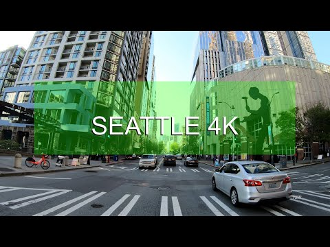 Drive Seattle 4K [Downtown Streets] Pike Place Market | Sakura Con 2019 | Washington | USA