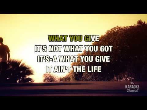 What You Give in the style of Tesla | Karaoke with Lyrics