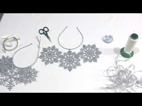 Как сделать ободок со снежинками? Легко и просто!