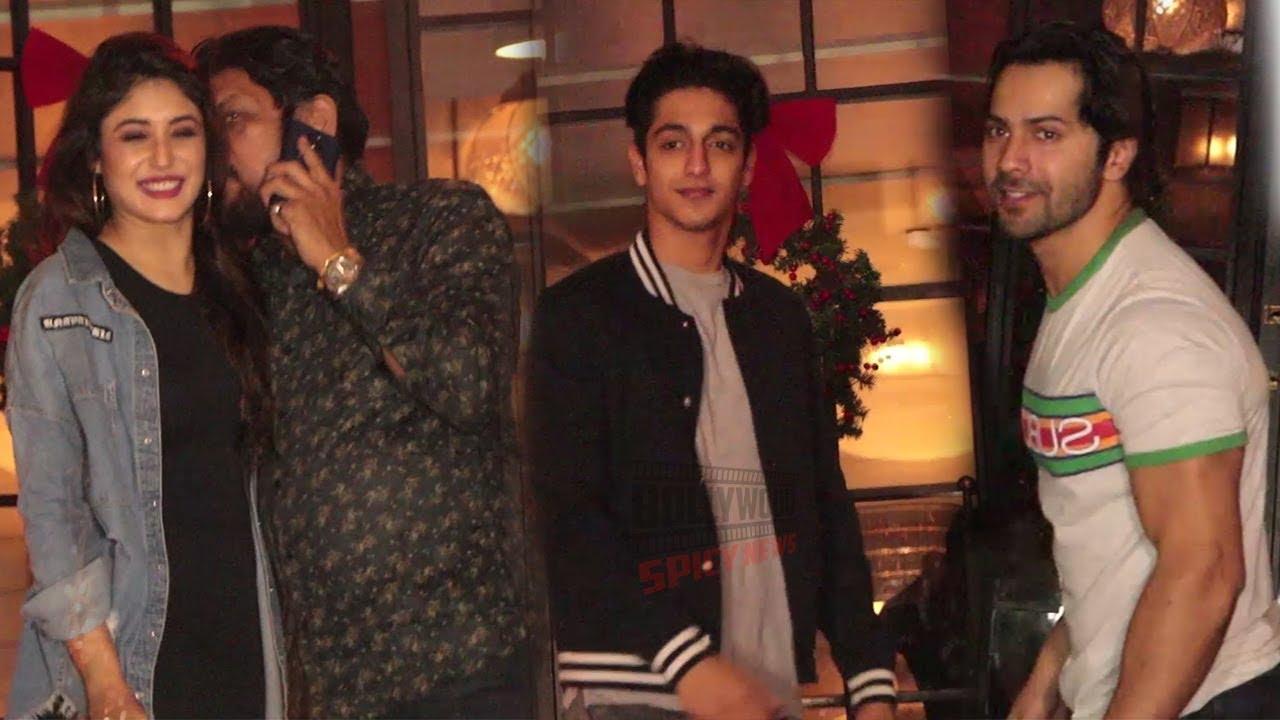 Kritika Kamra, Varun Dhawan and Ahaan Panday Spotted at Soho House